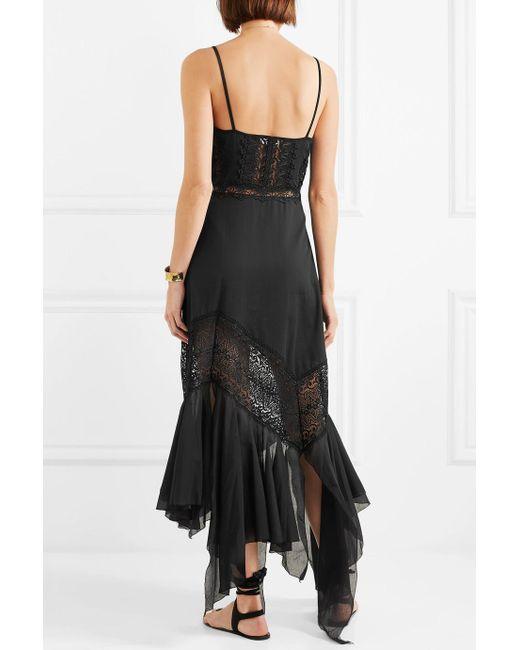 Briana Crocheted Lace And Cotton-blend Voile Maxi Dress - Black Charo Ruiz Ibiza APspT3C