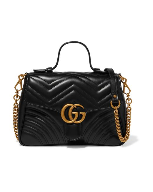 Gucci - Black Gg Marmont Small Quilted Leather Shoulder Bag - Lyst ... 5722033e3d067