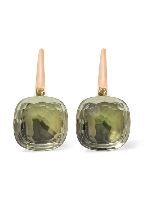 Pomellato | Metallic Nudo Classic 18-karat Rose Gold Prasiolite Earrings | Lyst