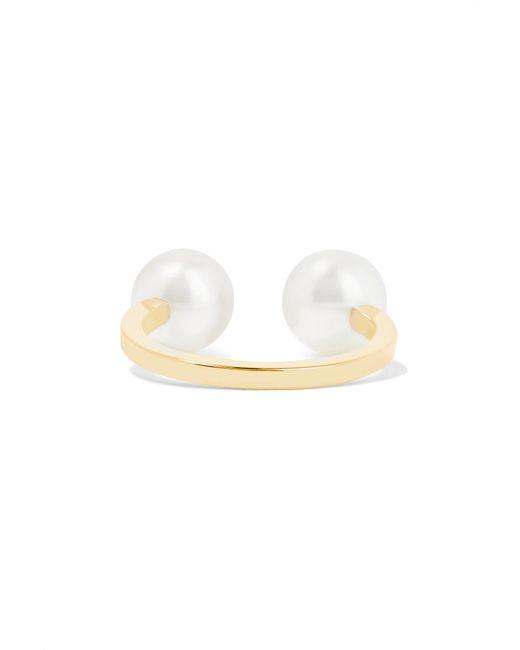 Sophie Bille Brahe | Metallic Emma Deux 14-karat Gold Pearl Ear Cuff | Lyst