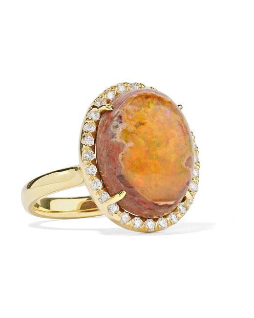 Kimberly Mcdonald - Metallic 18-karat Gold, Opal And Diamond Ring Gold 6 - Lyst