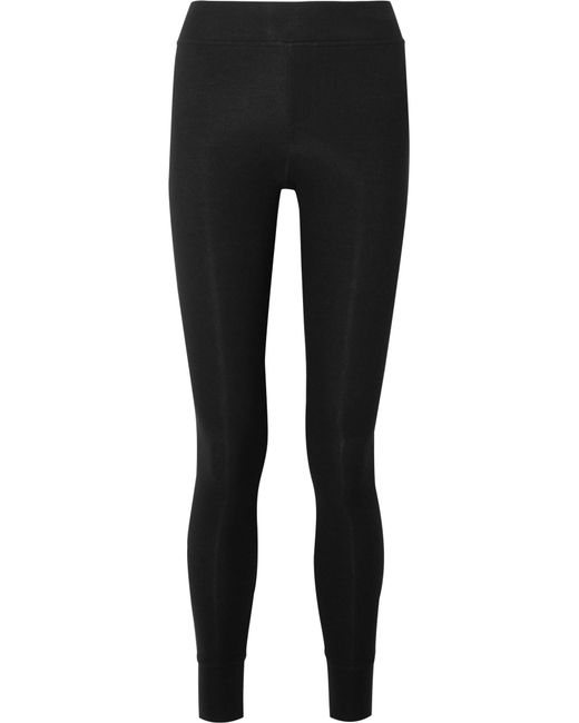 ATM - Black Ribbed Stretch-micro Modal Leggings - Lyst