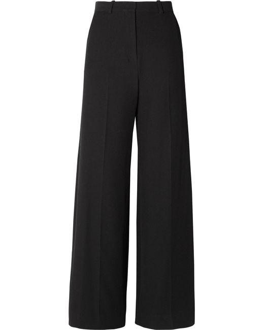 See By Chloé - Black Stretch-twill Wide-leg Pants - Lyst