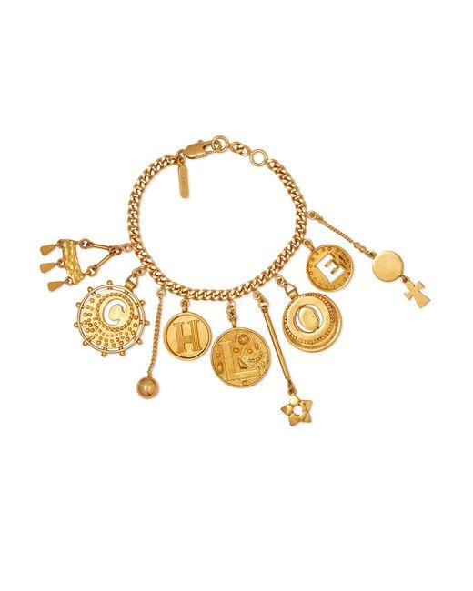 Chloé | Metallic Gold-tone Charm Bracelet | Lyst