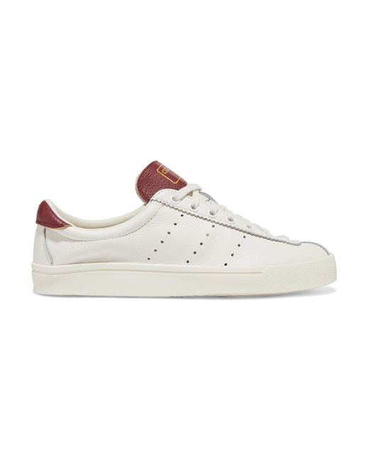 8e086b125918 Adidas Originals - White Lacombe Textured-leather Sneakers - Lyst ...