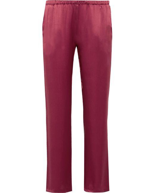 Carine Gilson | Red Silk-satin Pajama Pants | Lyst