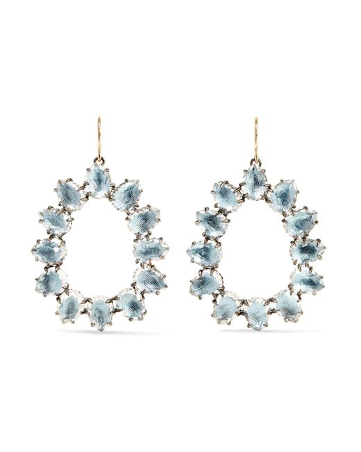 Larkspur & Hawk   Blue Caterina Small Rhodium-dipped Quartz Earrings   Lyst