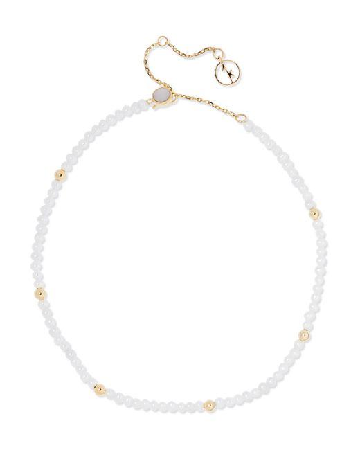 Anissa Kermiche - Metallic 14-karat Gold Pearl Anklet - Lyst