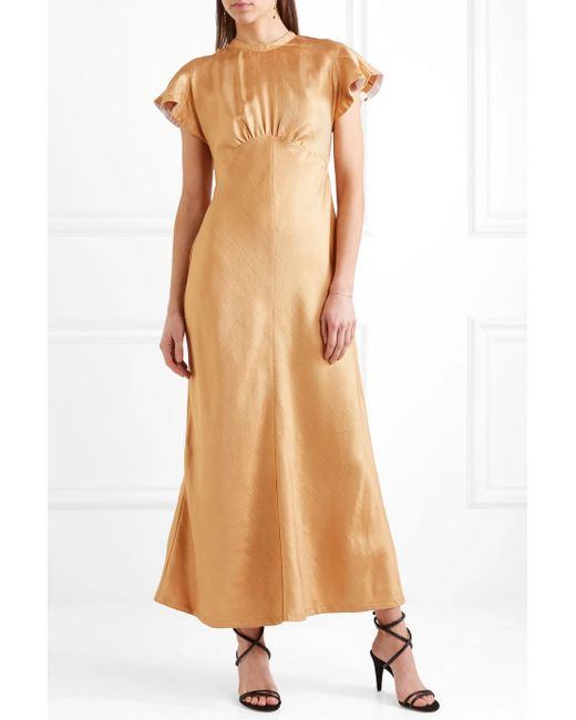 Twill Midi Dress - Gold Zimmermann 7K57Nu