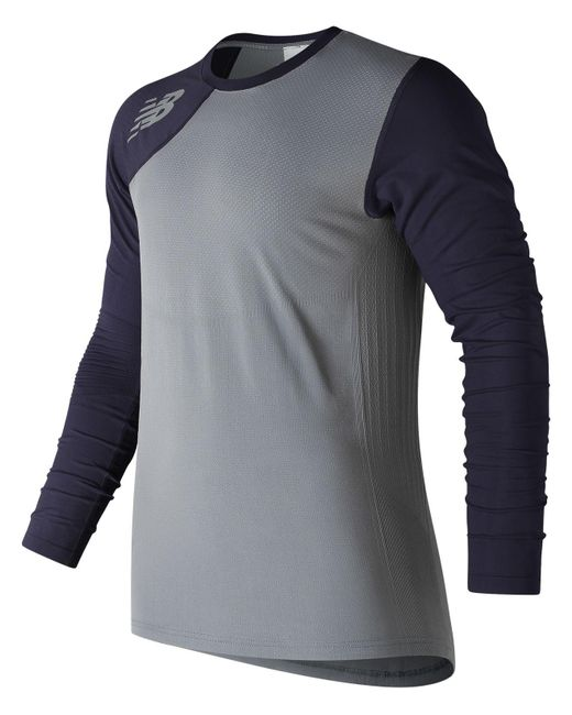 New Balance   Blue Seamless Asym Right for Men   Lyst