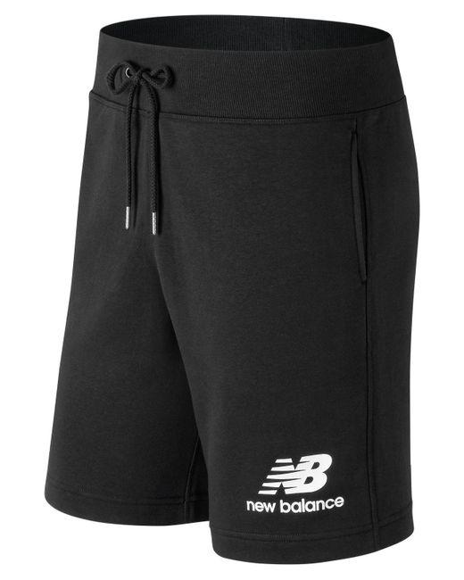 dc35c87e New Balance - Black Essentials Stacked Logo Short for Men - Lyst ...