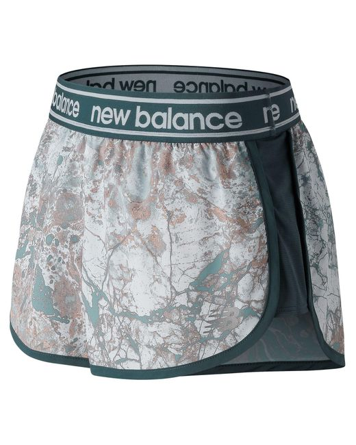 New Balance - Blue Printed Accelerate 2.5 Inch Short - Lyst