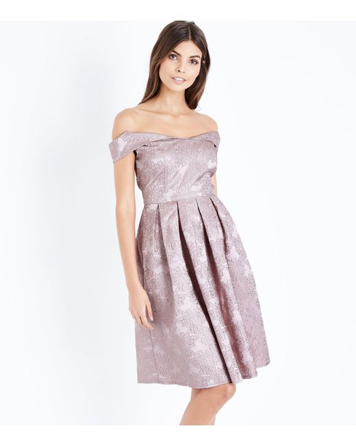 Mela - Pink Rose Gold Floral Embroidered Prom Dress - Lyst