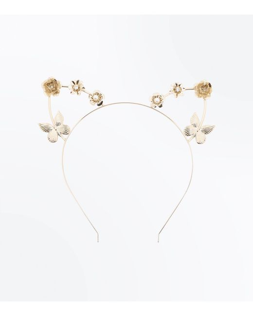 New Look | Metallic Gold Butterfly Embellished Cat Ears | Lyst