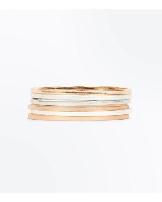 New Look | 6 Pack Metallic Bangles | Lyst