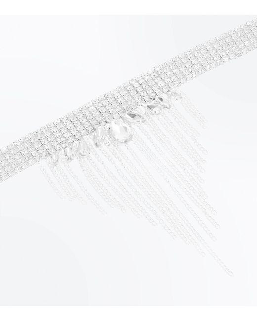 New Look | Metallic Silver Embellished Teardrop Gem Choker | Lyst