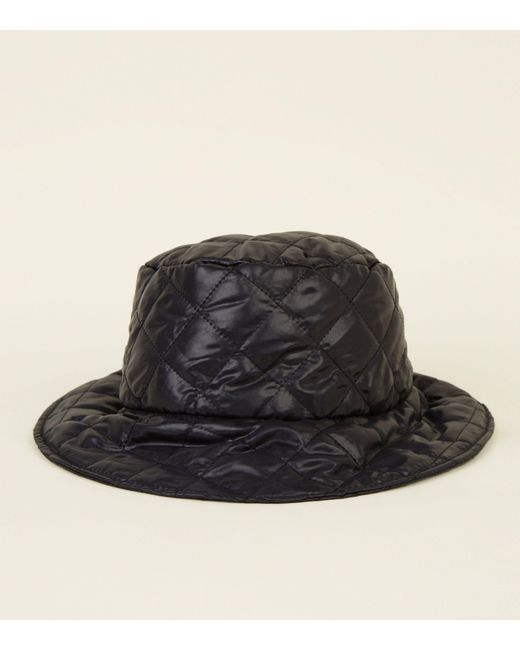 fc1f44e8490 New Look Black Quilted Bucket Hat in Black - Lyst