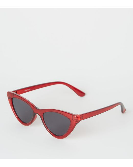 6783fc065f82 New Look Cat Eye Sunglasses In Red in Red - Lyst