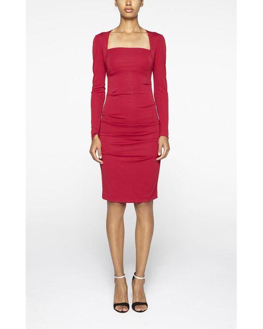 Nicole Miller | Red Felicity Stretch-Jersey Dress | Lyst