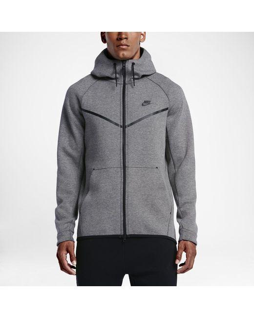 34262b3e20 Nike - Black Sportswear Tech Fleece Windrunner Men s Hoodie for Men - Lyst