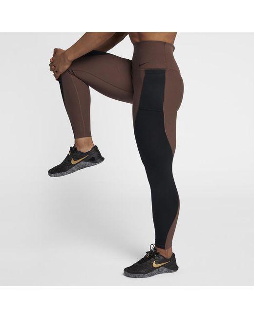 Lyst - Nike Power Studio Women s High Rise Training Crops in Black c3eb44286