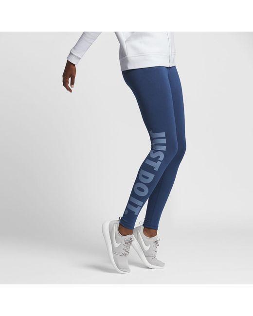 nike sportswear leg a see women 39 s just do it leggings in. Black Bedroom Furniture Sets. Home Design Ideas