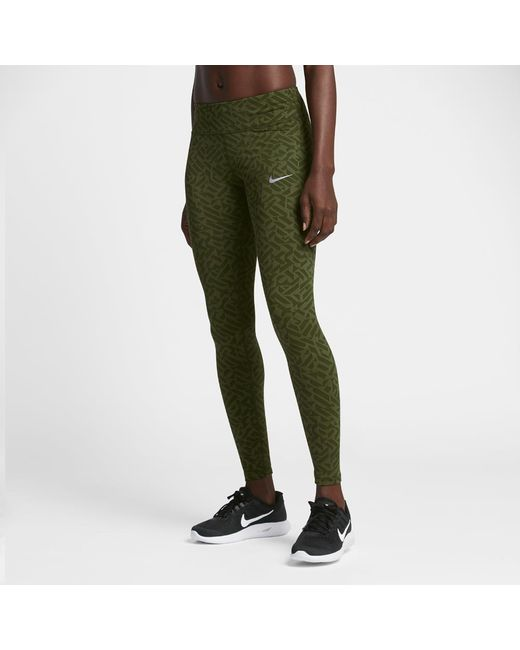 Nike Power Epic Lux Women's Running Tights in Green | Lyst