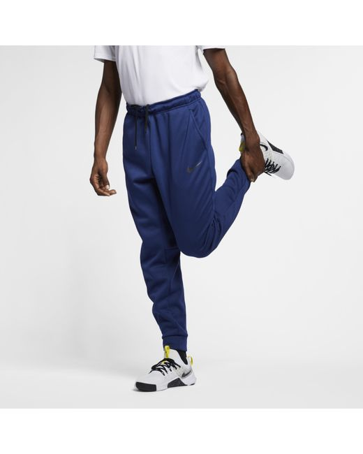 bb3c288434c8b Nike - Blue Therma Tapered Training Trousers for Men - Lyst ...