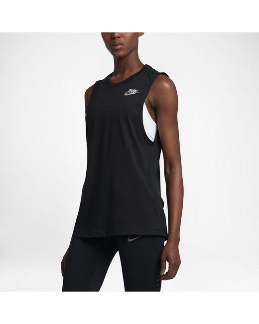Nike   Black Dry Women's Running Tank   Lyst