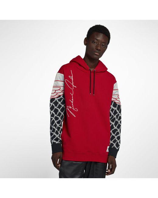 73c0d1236c97f2 Nike - Red Jordan Sportswear Pinnacle Pullover Hoodie for Men - Lyst ...