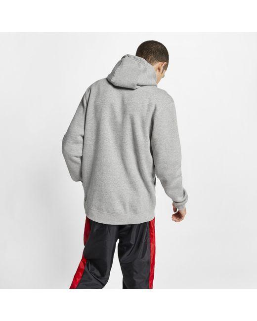 7911ee17b558cf ... Nike - Gray Sportswear Club Fleece Hoodie for Men - Lyst ...