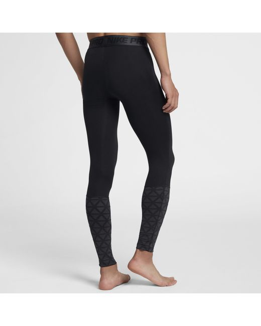 0728aae307498 ... Nike - Black Pro Utility Tights for Men - Lyst ...
