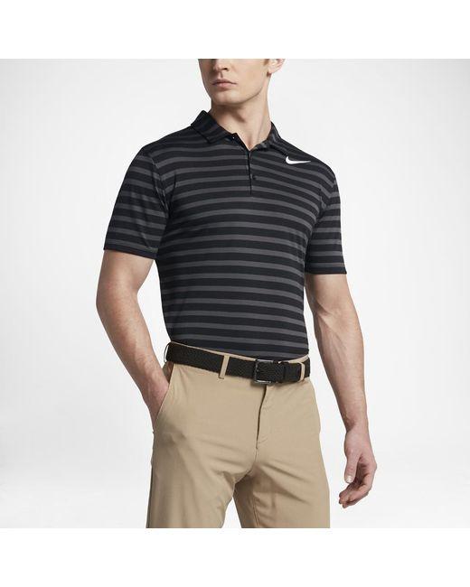 9fd5e3d8e9 Nike - White Breathe Stripe Men's Standard Fit Golf Polo Shirt for Men -  Lyst