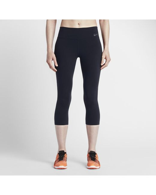 0608d7989109d Lyst - Nike Power Legendary Women s Training Capri Pants in Black