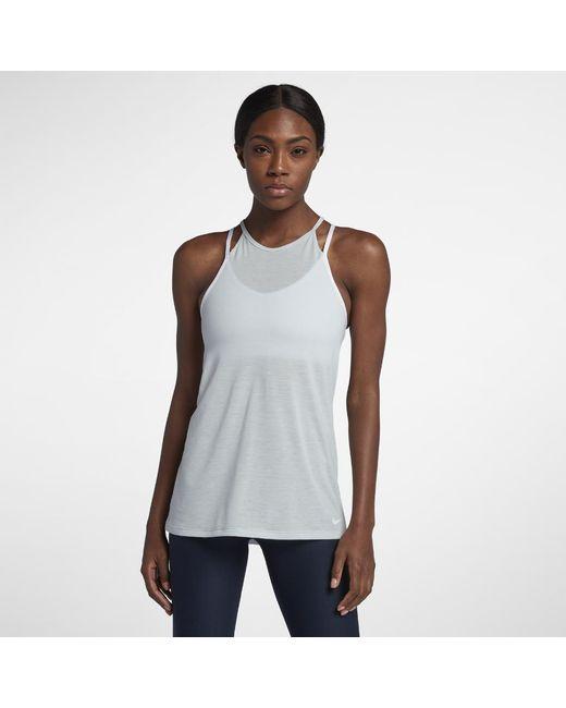 5badea09c38 ... Sportswear Essential Tank Top White Black NI126AA0STVJMY KFRDQEJ Nike -  White Dri-fit Women s Training Tank Top - Lyst ...