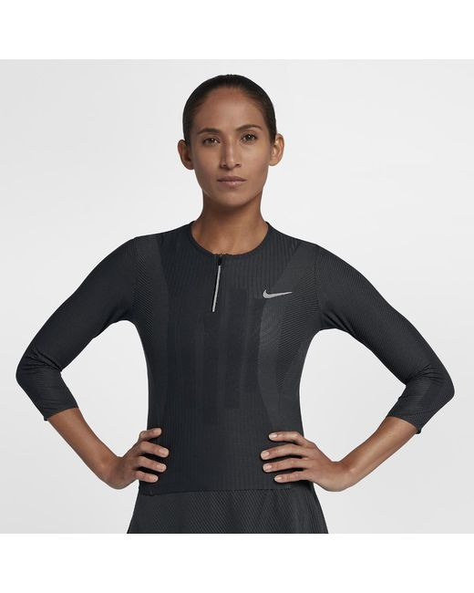 Nike - Black Court Zonal Cooling Slam Women's Tennis Top - Lyst