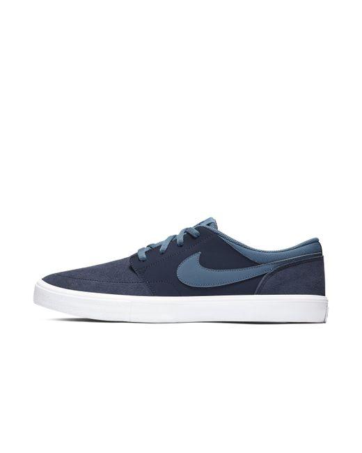 9af22179bfdc Nike Sb Solarsoft Portmore Ii Skateboarding Shoe in Blue for Men - Lyst