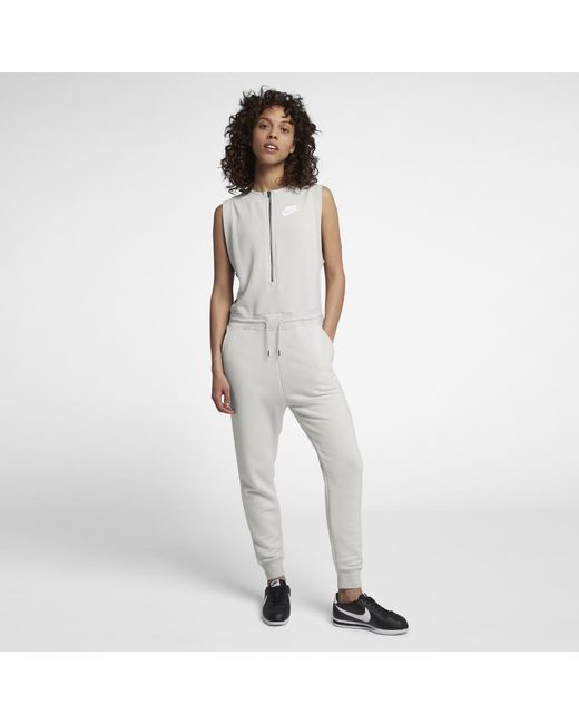 9b1e360eeb24 Lyst - Nike Sportswear Women s Jumpsuit in Gray