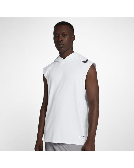 a1e3856a209d6 Nike - White Run Division Element Men s Sleeveless Running Hoodie for Men -  Lyst