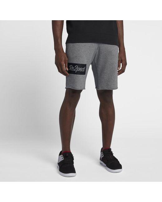 ac55334a435c0a Nike - Black Re2pect Flight Fleece Men s Shorts