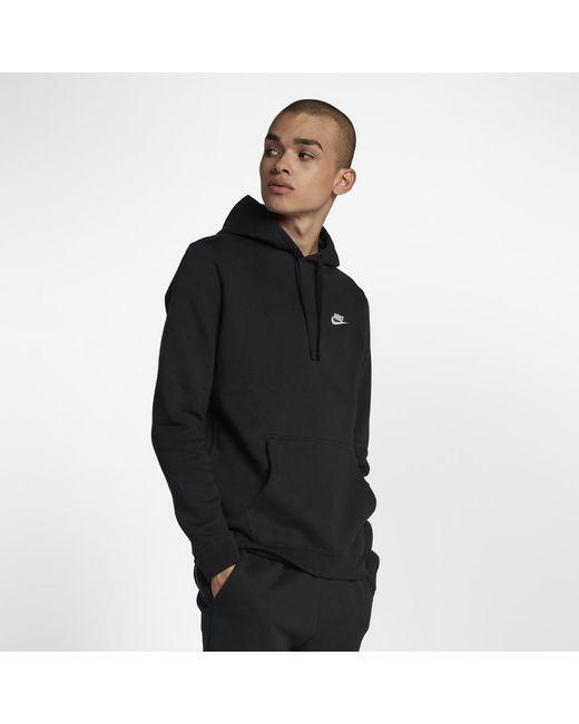 b08db1490351 Lyst - Nike Sportswear Club Fleece Men s Hoodie in Black for Men