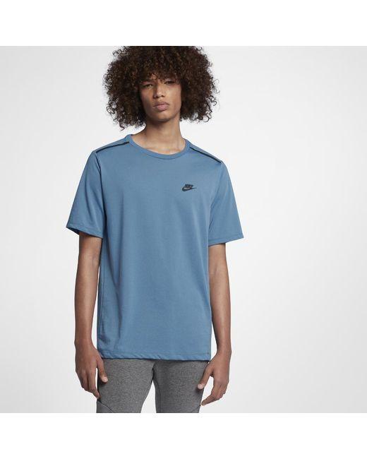 Nike - Blue Sportswear Bonded Men's Short Sleeve Top for Men - Lyst