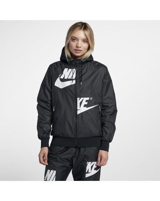 Lyst - Nike Sportswear Windrunner Women s Jacket in Black c7c2a9173