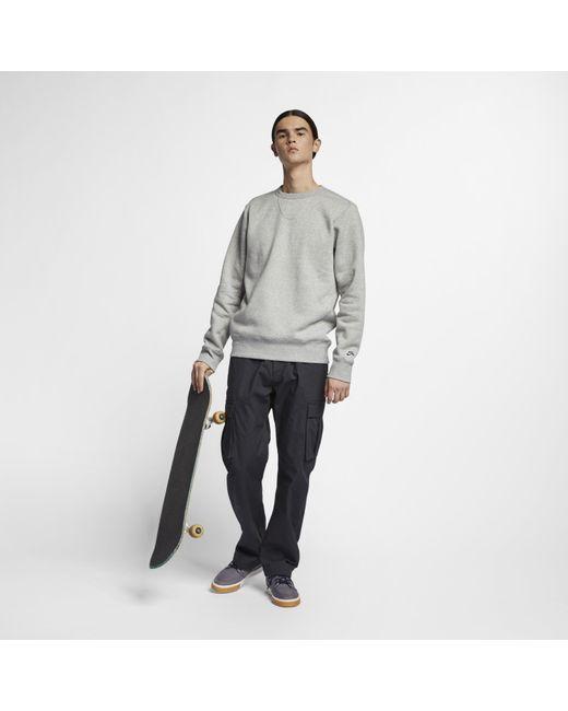 1f70acd0798489 ... Nike - Gray Sb Icon Fleece Skate Top for Men - Lyst ...