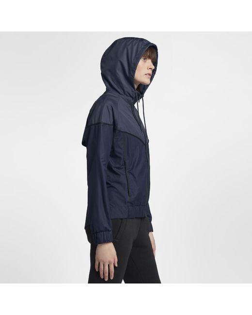 2573868e0b Lyst - Nike Sportswear Windrunner Women s Jacket in Blue