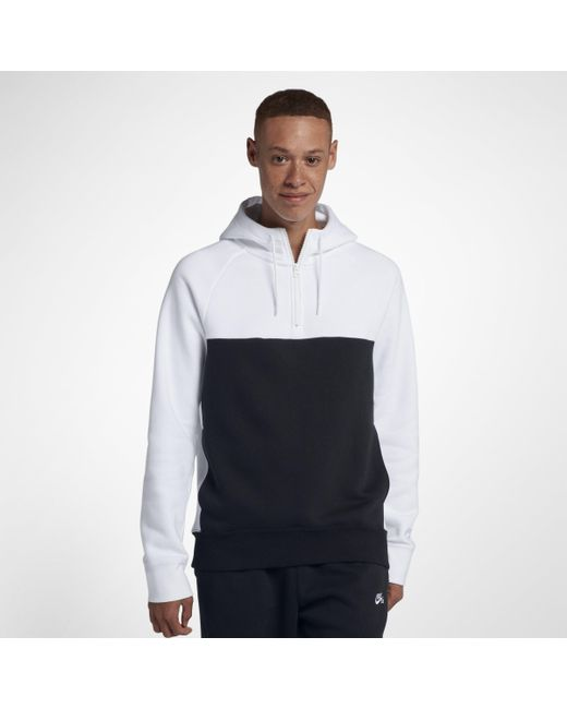cf96845ff5e101 Nike Sb Icon 1 2-zip Skateboarding Hoodie in White for Men - Lyst