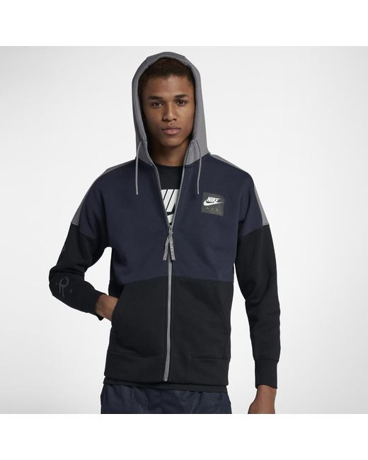 Black Nike Hoodie Men's In Air Men Lyst Fleece For xOwqdYYF
