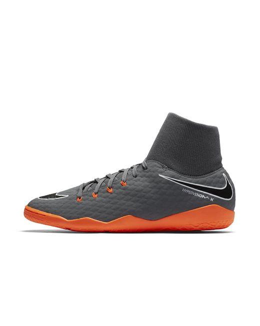 Nike - Gray Hypervenomx Phantom Iii Academy Dynamic Fit Indoor/court Soccer Cleats for Men - Lyst