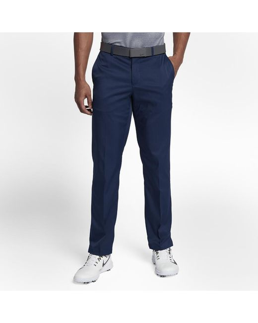 22f5cbd91c0a Lyst - Nike Flat Front Golf Trousers in Blue for Men
