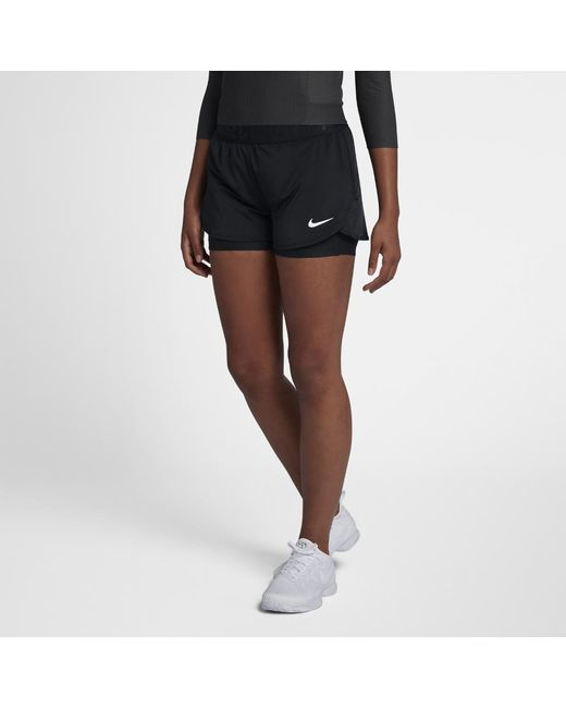 dca7672d8268b Lyst - Nike Court Dri-fit Ace Women s Tennis Shorts in Black